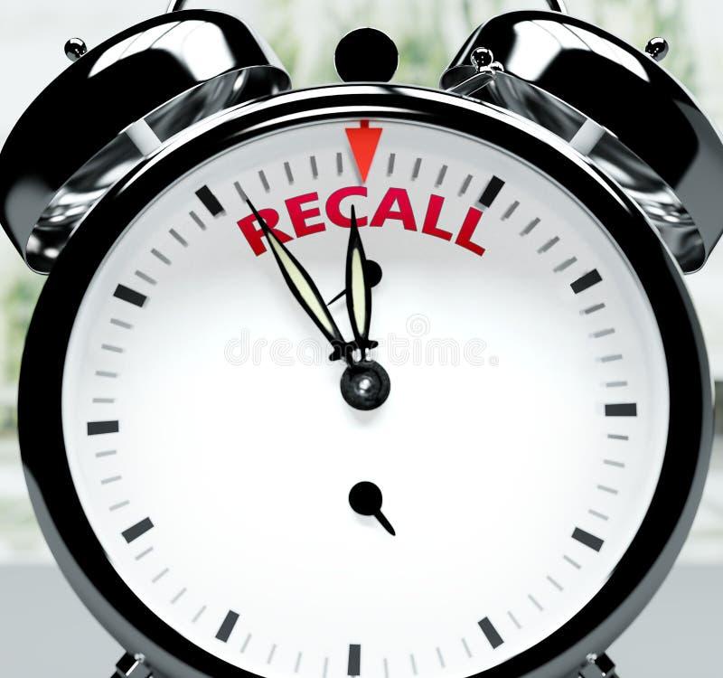 Θυμηθείτε σύντομα, σχεδόν εκεί, σε σύντομο χρονικό διάστημα - ένα ρολόι συμβολίζει μια υπενθύμιση που πλησιάζει η ανάκληση, θα συ απεικόνιση αποθεμάτων