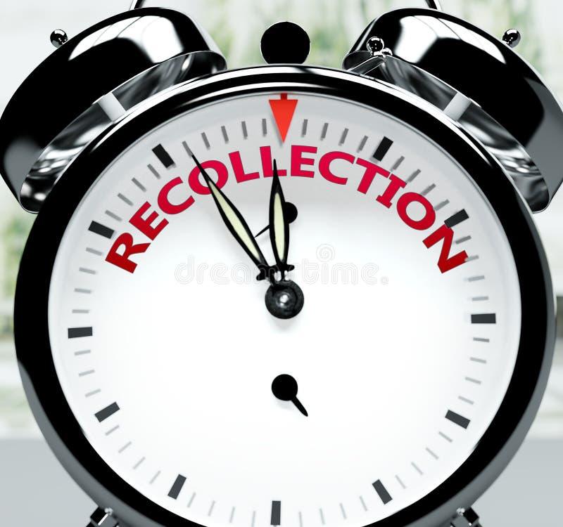 Θυμηθείτε σύντομα, σχεδόν εκεί, σε σύντομο χρόνο - ένα ρολόι συμβολίζει μια υπενθύμιση ότι η Ανάμνηση είναι κοντά, θα συμβεί και  απεικόνιση αποθεμάτων