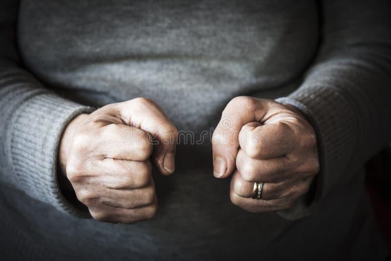 Θυμός μιας γυναίκας στοκ εικόνες με δικαίωμα ελεύθερης χρήσης