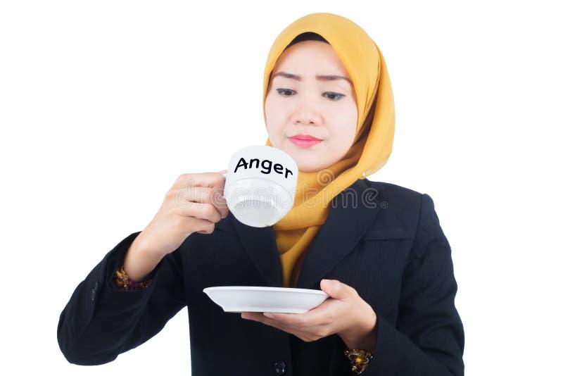 Θυμός στην έννοια εργασίας στοκ εικόνες