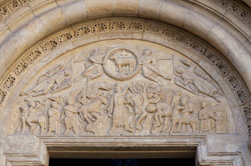 Θυσία του Isaac στην πόρτα αρνιών, Leon, Ισπανία στοκ φωτογραφία