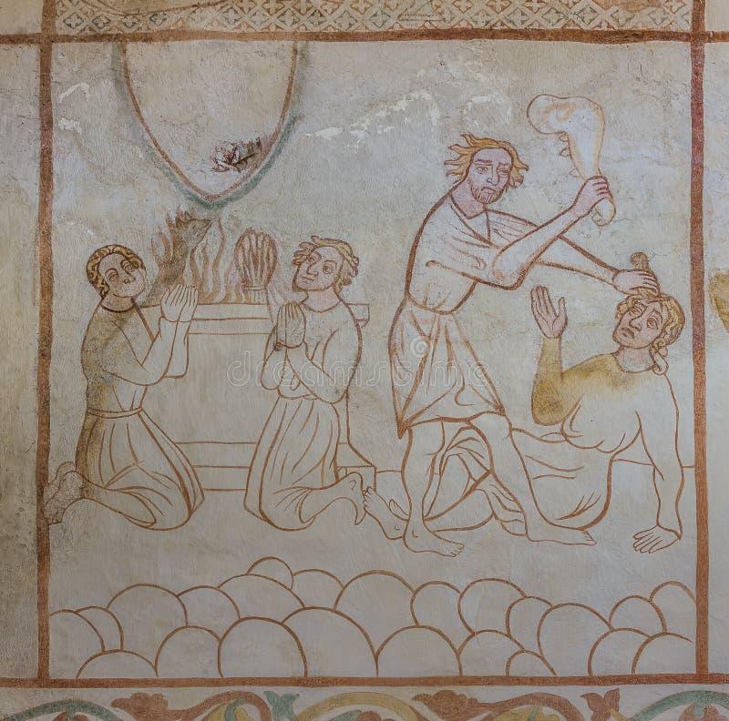 Θυσίες στο Θεό και Cain που σκοτώνουν το Abel στοκ φωτογραφίες με δικαίωμα ελεύθερης χρήσης