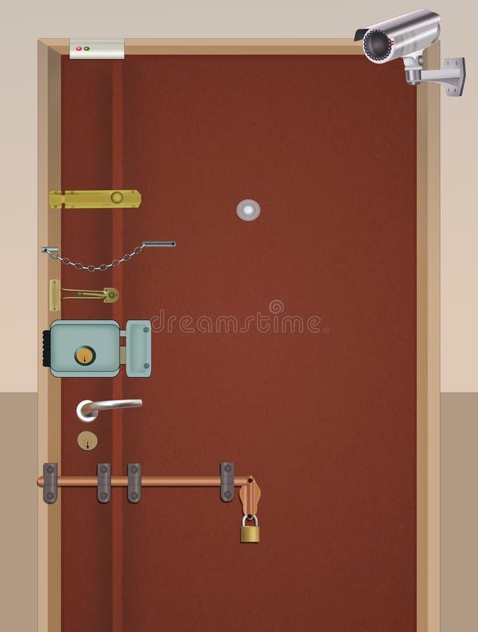 Θωρακισμένη πόρτα αντι-κλεφτών διανυσματική απεικόνιση