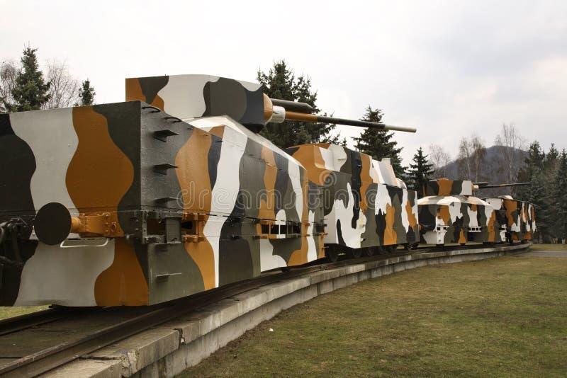 Θωρακισμένο τραίνο Hurban σε Zvolen Σλοβακία στοκ φωτογραφίες