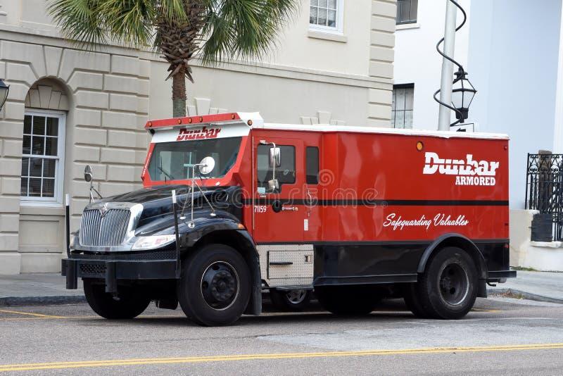 Θωρακισμένο φορτηγό Dunbar στοκ φωτογραφία με δικαίωμα ελεύθερης χρήσης