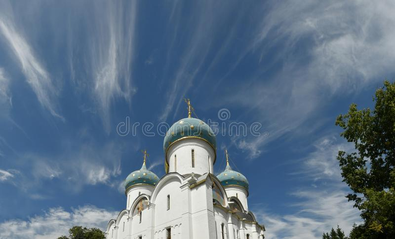 Θόλοι της Ορθόδοξης Εκκλησίας, Ρωσία, Lavra στοκ φωτογραφίες με δικαίωμα ελεύθερης χρήσης