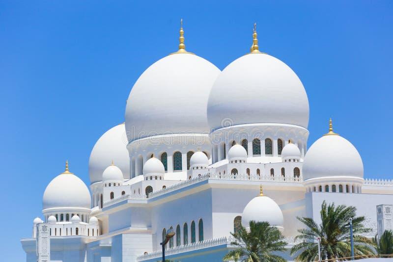 Θόλοι του μουσουλμανικού τεμένους Shaiekh Zayed - Αμπού Ντάμπι στοκ φωτογραφίες