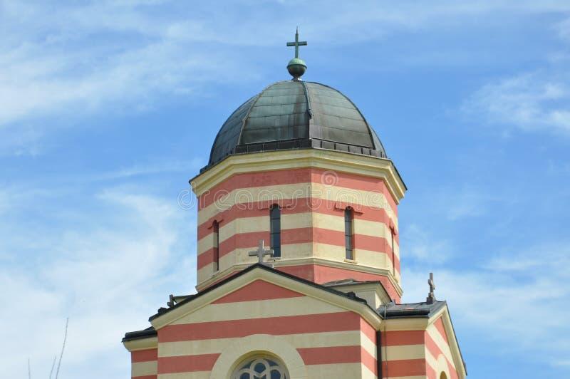Θόλοι του ορθόδοξου μοναστηριού, σερβικό μοναστήρι στοκ εικόνα με δικαίωμα ελεύθερης χρήσης
