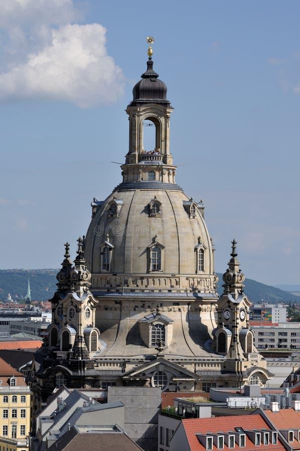 θόλος Δρέσδη frauenkirche s στοκ φωτογραφίες