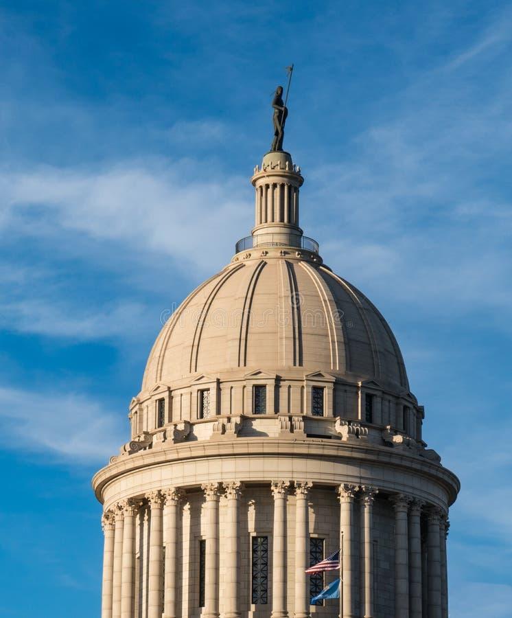 Θόλος κρατικού Capitol της Οκλαχόμα στοκ φωτογραφίες με δικαίωμα ελεύθερης χρήσης