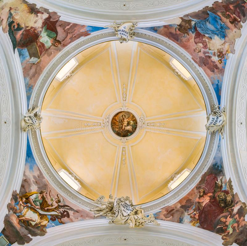 Θόλος στην εκκλησία SAN Carlo σε Noto Επαρχία των Συρακουσών, Σικελία, Ιταλία στοκ φωτογραφίες με δικαίωμα ελεύθερης χρήσης
