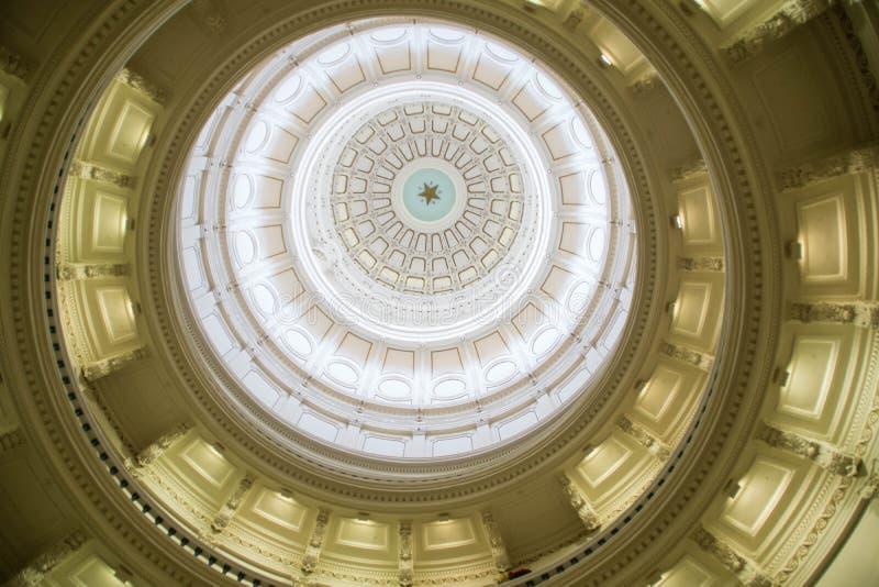 Θόλος της οικοδόμησης κρατικού Capitol του Τέξας στοκ φωτογραφίες με δικαίωμα ελεύθερης χρήσης