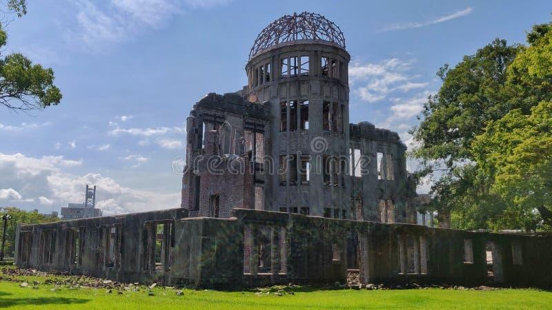 Θόλος της Χιροσίμα στο φως της ημέρας στοκ εικόνες