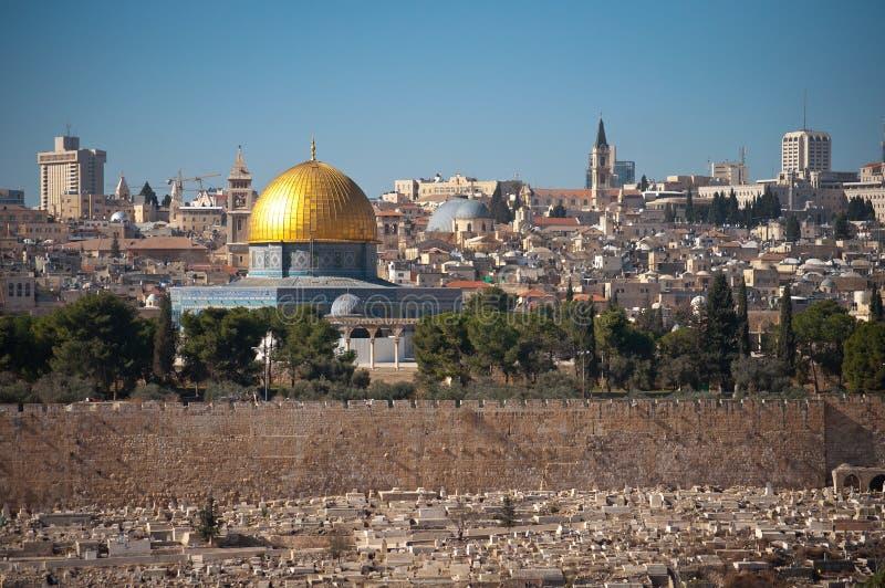 Θόλος του βράχου στην Ιερουσαλήμ στοκ φωτογραφία