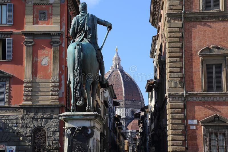 Θόλος του καθεδρικού ναού της Φλωρεντίας, Ιταλία στοκ εικόνες