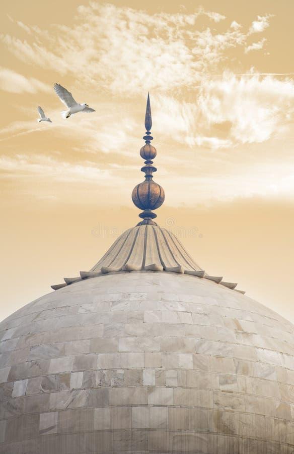 Θόλος του μουσουλμανικού τεμένους badshahi lahore στοκ φωτογραφία