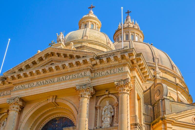 Θόλοι εκκλησιών Xewkija στοκ εικόνα