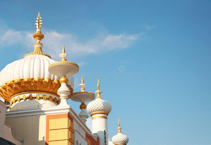 θόλοι Η χαρτοπαικτική λέσχη Taj Mahal στην Ατλάντικ Σίτυ, NJ στοκ φωτογραφία με δικαίωμα ελεύθερης χρήσης