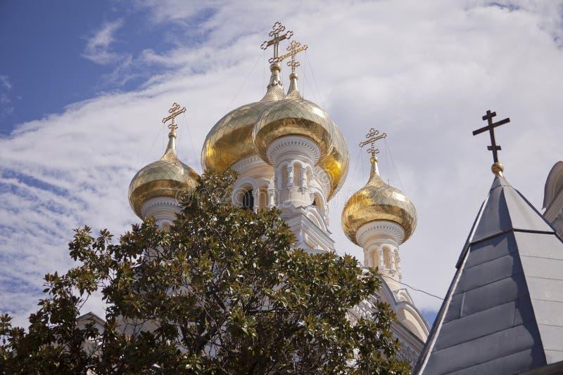 Θόλοι κρεμμυδιών σε Yalta, Ουκρανία στοκ φωτογραφία