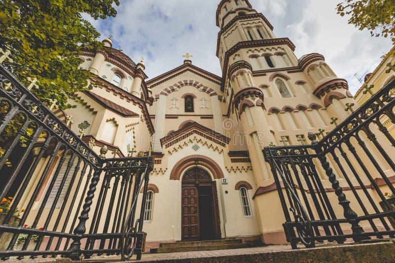 Θόλοι της κυρίας μας της εκκλησίας σημαδιών, το betwee Ορθόδοξων Εκκλησιών στοκ εικόνες