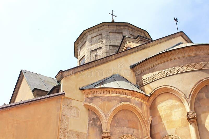 Θόλοι του αρμενικού καθεδρικού ναού σε Lviv, Ουκρανία στοκ φωτογραφία