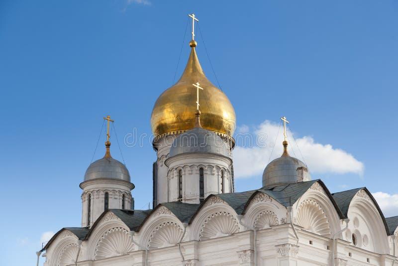 Θόλοι του καθεδρικού ναού αρχαγγέλων στοκ εικόνα