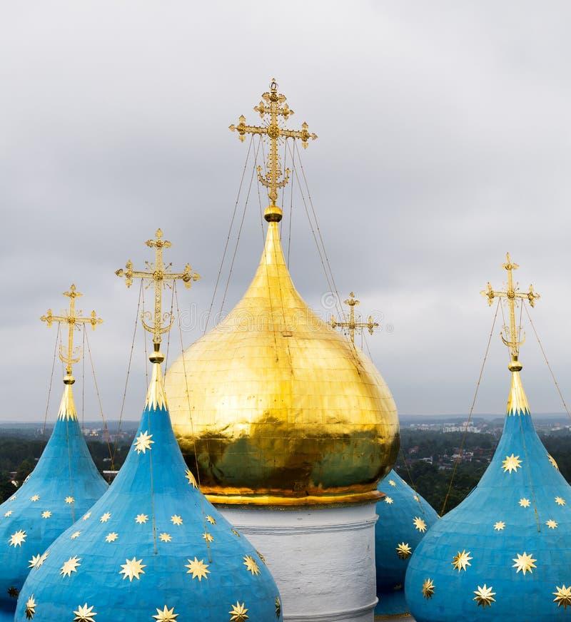 Θόλοι του καθεδρικού ναού της υπόθεσης της ευλογημένης Virgin Mary στοκ φωτογραφία με δικαίωμα ελεύθερης χρήσης