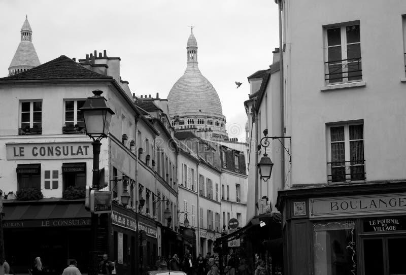 Θόλος εκκλησιών Montmartre - Γαλλία στοκ εικόνα