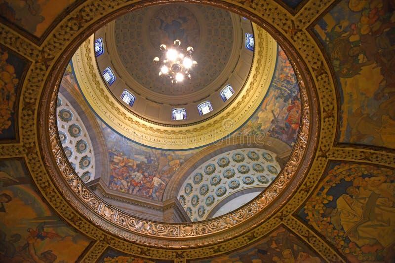 Θόλος κρατικού Capitol του Μισσούρι στοκ εικόνες