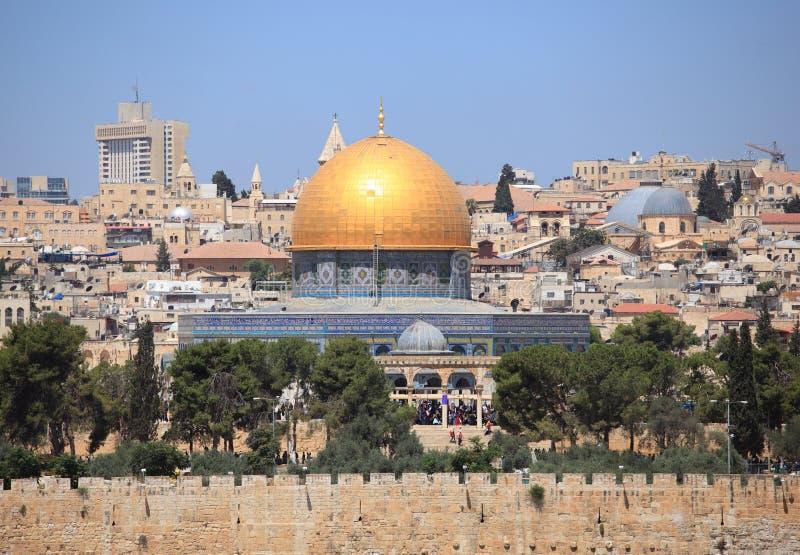 Θόλος της προσευχής Παρασκευής βράχου, Ιερουσαλήμ στοκ εικόνες
