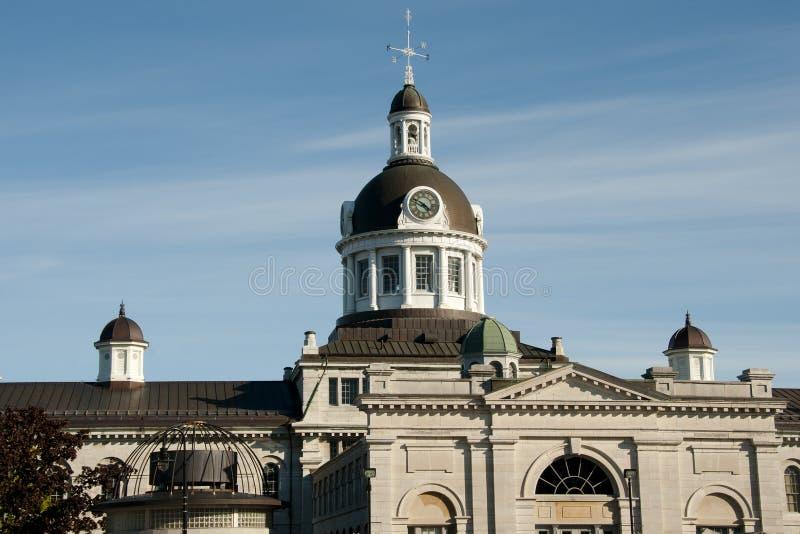 Θόλος της πόλης αιθουσών - Κίνγκστον - Καναδάς στοκ εικόνα