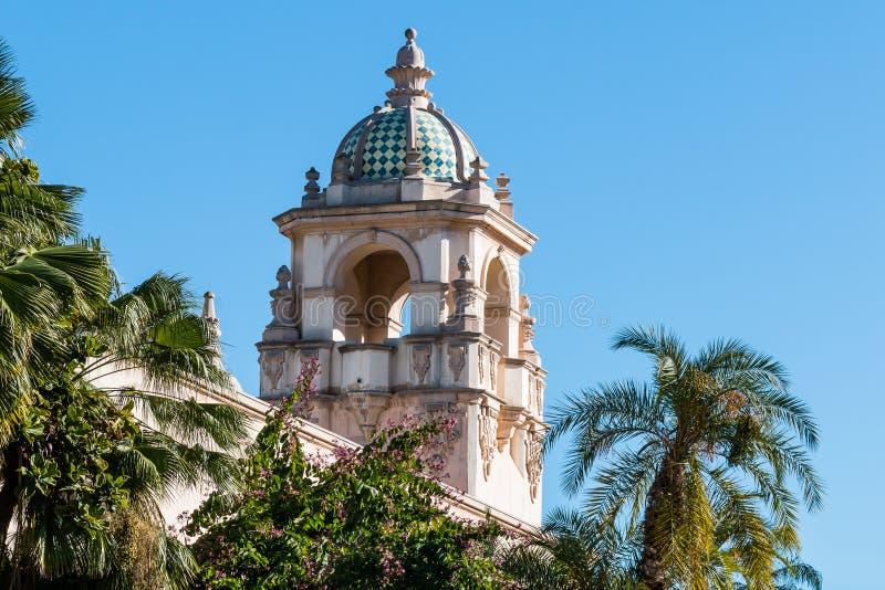 Θόλος Casa Del Prado Theatre στο πάρκο BALBOA στοκ εικόνα
