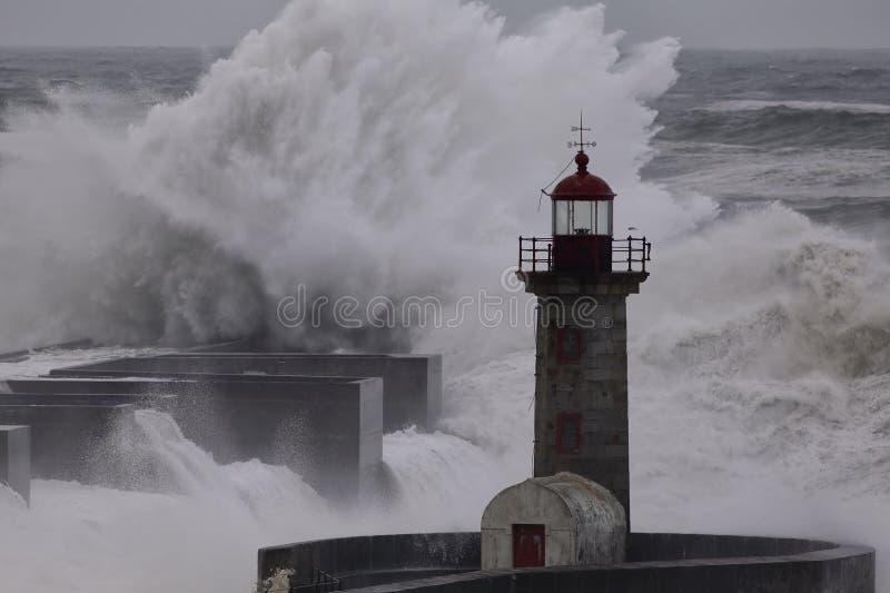 Θύελλα εκβολών ποταμού Douro στοκ εικόνες