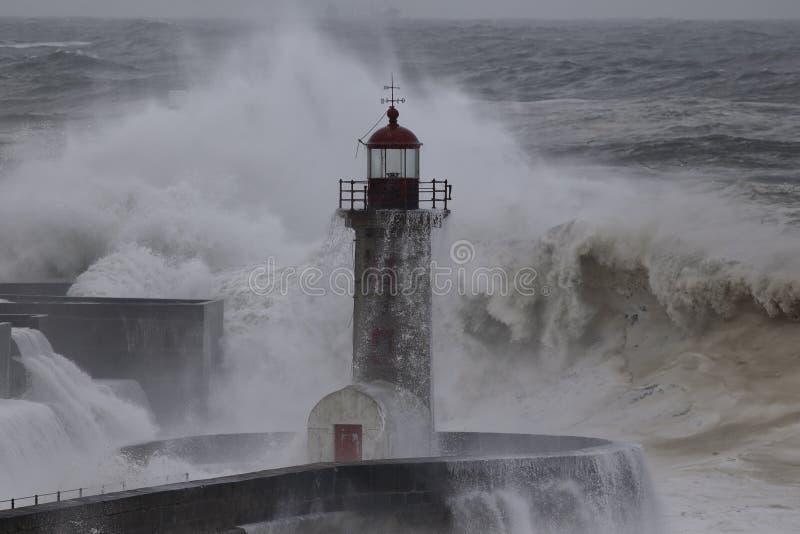 Θύελλα εκβολών ποταμού Douro στοκ φωτογραφία
