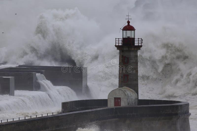 Θύελλα εκβολών ποταμού Douro στοκ εικόνα