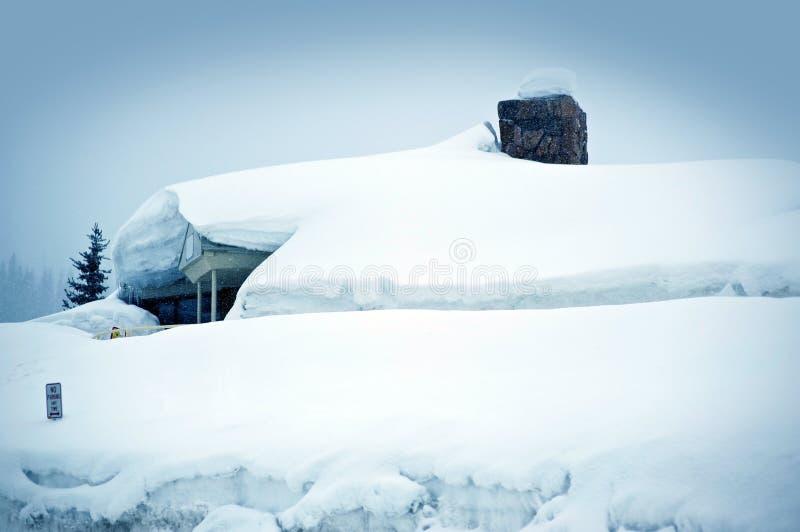 Θύελλα ισχυρής χιονόπτωσης στοκ φωτογραφία με δικαίωμα ελεύθερης χρήσης