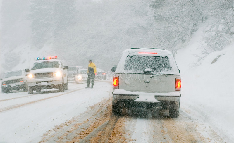 Download θύελλα οδικού χιονιού β&o στοκ εικόνα. εικόνα από κίνδυνος - 380287