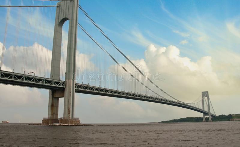 Θύελλα πέρα από τη γέφυρα Verrazzano στοκ φωτογραφία