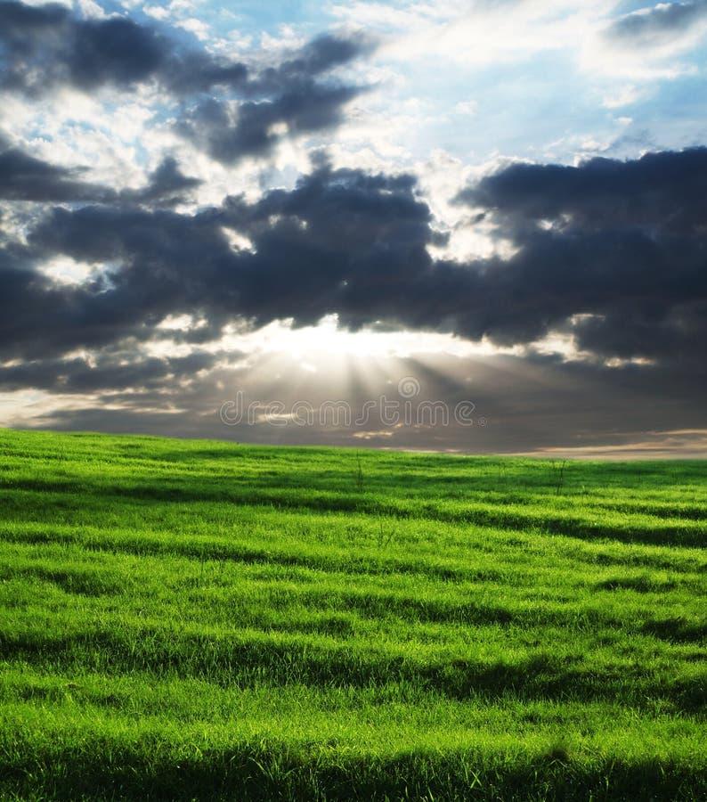 θύελλα πεδίων σύννεφων στοκ εικόνες με δικαίωμα ελεύθερης χρήσης