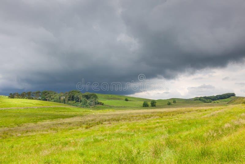 Θύελλα που πλησιάζει στη Northumberland στοκ εικόνα με δικαίωμα ελεύθερης χρήσης