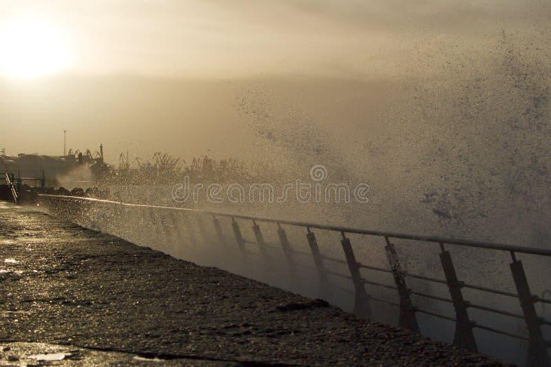 Θύελλα στο λιμένα Δωρεάν Στοκ Εικόνα