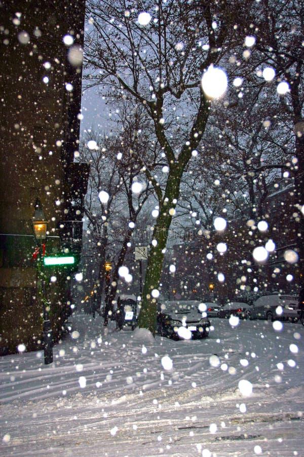 θύελλα χιονιού της Βοστώ& στοκ φωτογραφία