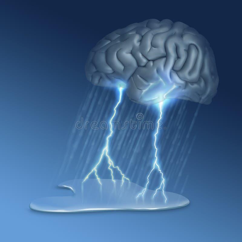 Θύελλα εγκεφάλου ελεύθερη απεικόνιση δικαιώματος