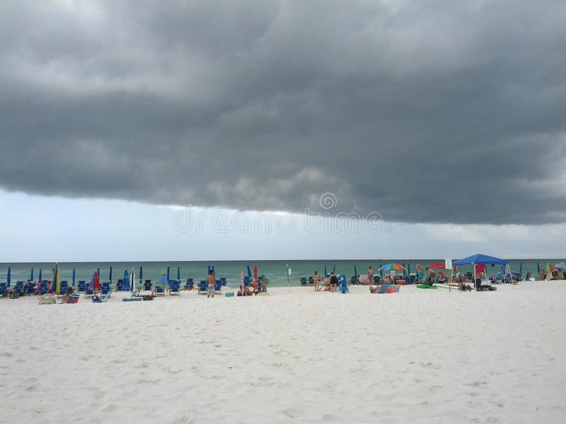 Θύελλα στην παραλία στοκ φωτογραφίες
