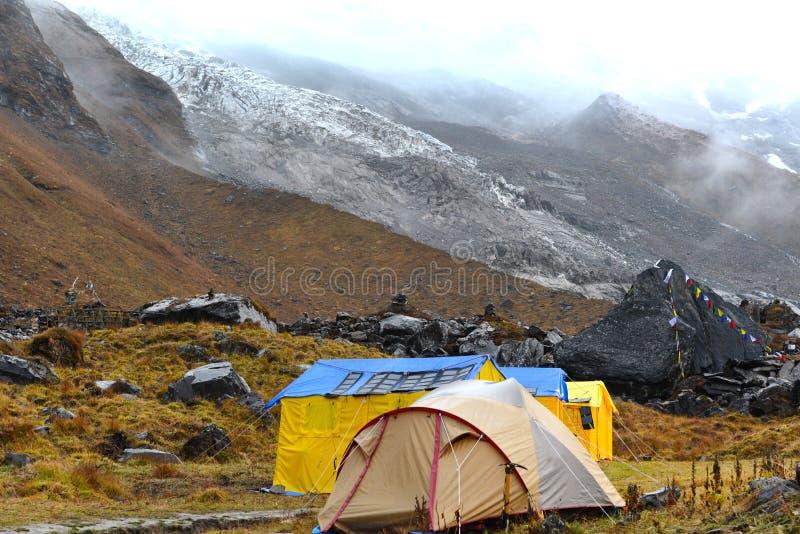 Θύελλα στο στρατόπεδο βάσεων Annapurna, Νεπάλ στοκ εικόνα με δικαίωμα ελεύθερης χρήσης