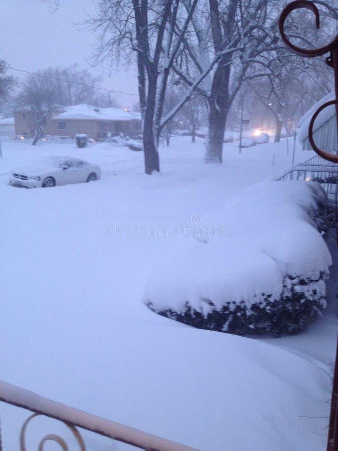 Θύελλα χιονιού στο Σικάγο στοκ εικόνες με δικαίωμα ελεύθερης χρήσης