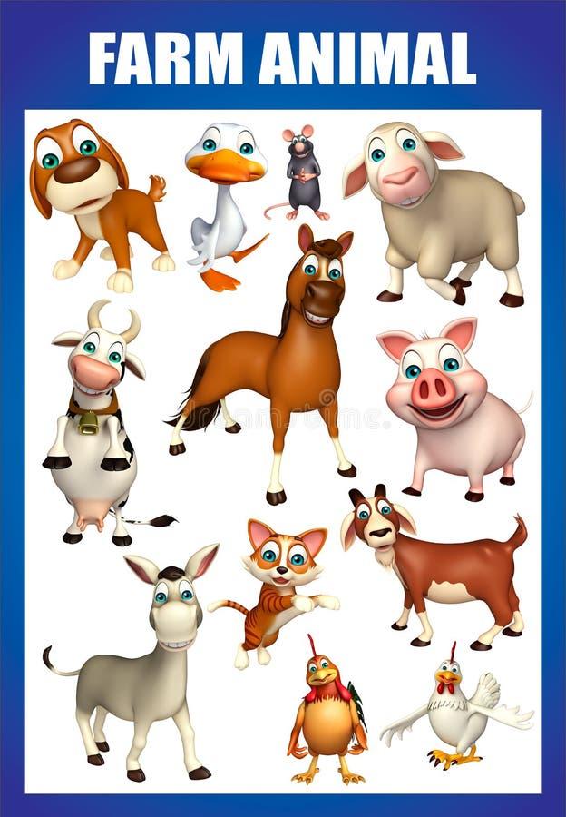 διάγραμμα ζώων αγροκτημάτων ελεύθερη απεικόνιση δικαιώματος