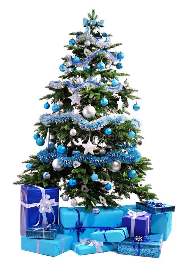 διάνυσμα δέντρων απεικόνισης δώρων Χριστουγέννων στοκ φωτογραφίες