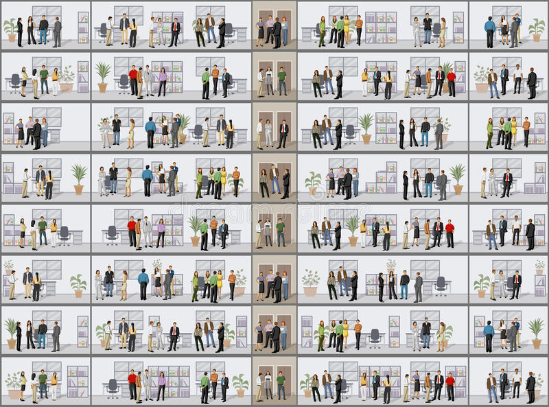 διάνυσμα ανθρώπων επιχειρησιακής απεικόνισης jpg απεικόνιση αποθεμάτων