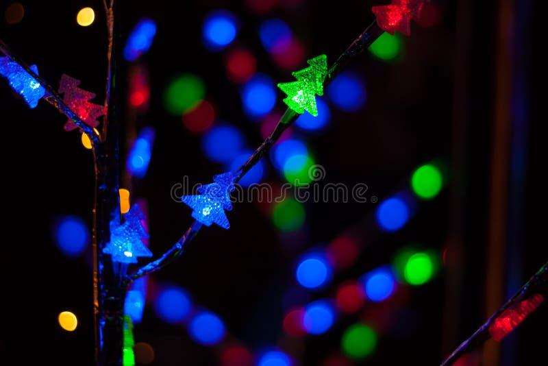 διάνυσμα απεικόνισης γιρλαντών Χριστουγέννων καρτών ανασκόπησης στοκ φωτογραφία με δικαίωμα ελεύθερης χρήσης